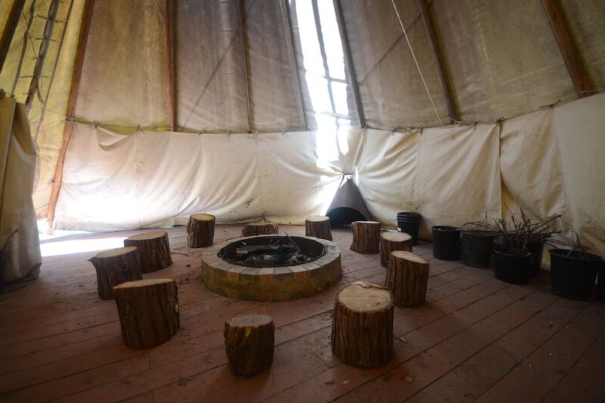 Our Tipi & Indoor Fire Ring
